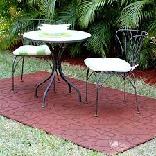 use recycled rubber pavers for your outdoor patio