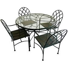 100 Black Wrought Iron Chairs Outdoor Vintage Patio Dining Set With Four For