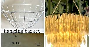 Upcycle Wax Paper Chandelier