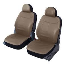 house siege voiture housses de siège 2 places avant en simili cuir beige taupe pour