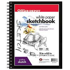 Print Office Depot Brand Sketchbook 8 12