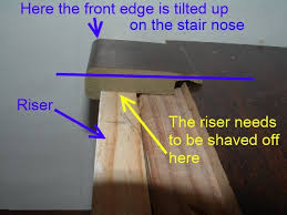 cutting stair nose molding for installing laminate on stairs diy