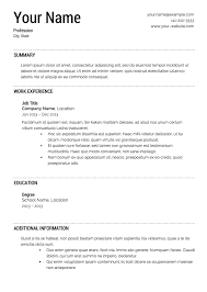 Building Your Resume Template