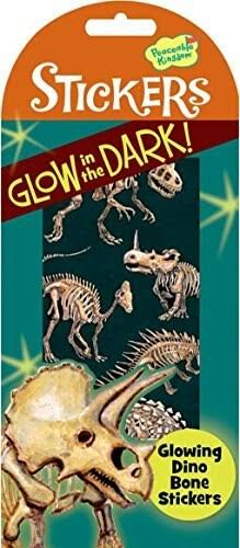 Peaceable Kingdom Glow In the Dark Dino Bone Stickers
