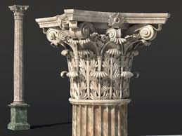 Corinthian Column 3D Model CG