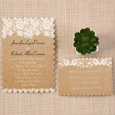 Scallop Chic Rustic Wedding Invitation Cards EWIs270
