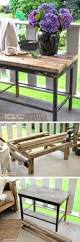 Diy Wooden Outdoor Furniture by Best 25 Wooden Outdoor Table Ideas On Pinterest Patio Tables