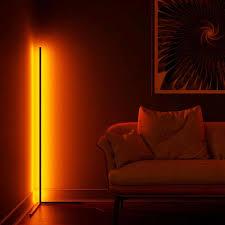 led floor l rgb remote living room reading light