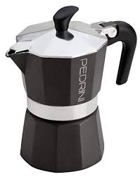 Pedrini QuotAroma Neroquot Coffee Maker 2 Cups BLACK Italian Import