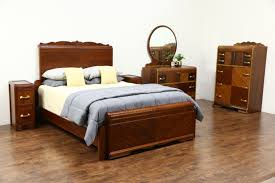 Ebay Queen Bed Frame by Sold Art Deco Waterfall Vintage 5 Pc Bedroom Set Queen Bed