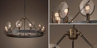 gaslight lens chandelier collection rh