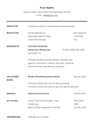 Job Resume Format For College Students Student Examples Sample Resumes First