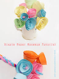 Paper Rosebud Tutorial Step By Photos