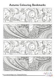 Older Children Will Enjoy Colouring In All The Intricate Little Designs On These Autumn Doodle Bookmarks Print Onto Card For Best Result