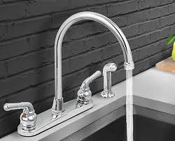 Sink Handles Hard To Turn by Everflow 17188 Kitchen Faucet With Spray High Arc Swivel Spout