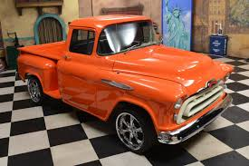 1957 Chevrolet 3100 Pickup Truck Clásicas Del Coche Para La Venta-ES ... 1957 Chevy Cameo Pickup Truck Hot Rod Network 1957chevy Pickup Hood Bump Give Away A Salt Flat Fury Cool Chevrolet 3100 For Sale Near Oxford Alabama 36203 Classics 3600 Gateway Classic Cars 168sct Trucks Sale In California Classy The Trade Swapping Stre Hemmings Stance Works Adams Rotors 57 Rare Apache Shortbed Stepside Original V8 Cab Big Show Truck Ac Air Ride American Dream Cadillac Michigan 49601