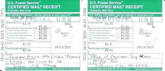 Certified Letter Return Receipt Certified Mail With Receipt Usps