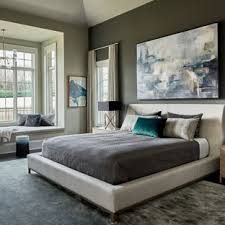 Transitional Dark Wood Floor And Black Bedroom Photo In Charlotte With Gray Walls