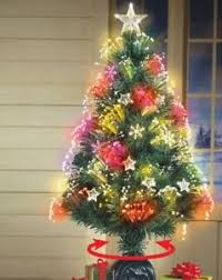 Image Is Loading Fiber Optic Tabletop Christmas Tree 3 Ft Artificial