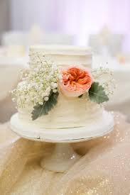 2 Tier Rustic White Cake With Fresh Flowers