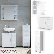 vicco badmöbel set ilias weiß bad spiegel kommode unterschrank badschrank