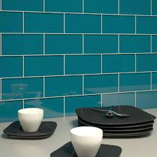turquoise glass tile backsplash blue glass tile wavy blue random