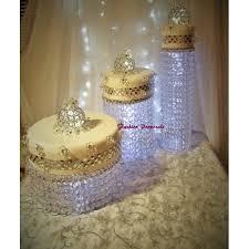 Cake Stand Wedding Cascade Waterfall Crystal Set Of 3