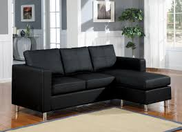 Black Leather Couch Living Room Ideas by Small Leather Sectional Sofa Foter In Prepare 1 Quantiply Co