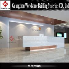 Customized Design Artifical Marble Modern Hotel Front Reception
