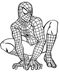 Spiderman Coloring Pages Kids Pictures To Print Superhero