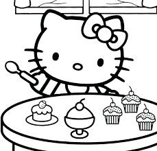 Printable Kitten Coloring Pages Kittens Hello Kitty Adult For Cool Free