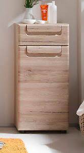 details zu bad unterschrank badschrank eiche san remo badezimmer kommode 37 x 82 cm malea