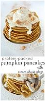 Easy Healthy Pumpkin Pancake Recipe by Protein Packed Pumpkin Pancakes With Cream Cheese