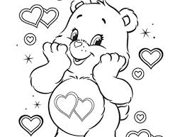 Coloring Pages Bears Free Printable Peachy Care Bear
