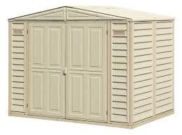 8x6 Wood Storage Shed by Duramax 8x6 Duramate Vinyl Shed 00181 Free Shipping