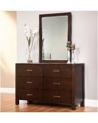bargains on abbyson htons 6 drawer dresser with mirror dresser