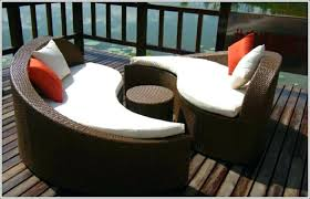 Deck Lounger Swimming Pool Rattan Loungers Chair Outdoor Sun