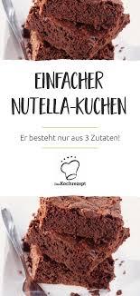 kuchen aus nutella und ei