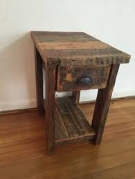 reclaimed barnwood wood end table or night stand by barnwood4u