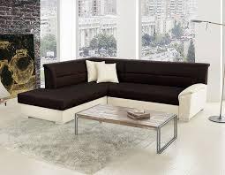 canap lit angle canapé lit d angle bicolore avec coffre de rangement valdemo
