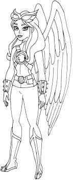 Free Printable Super Hero High Coloring Page For Hawk Girl