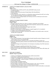 Download Assistant Superintendent Resume Sample As Image File