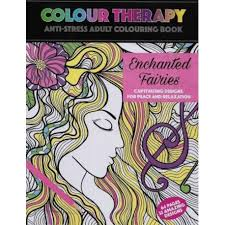 Colour Therapy Enchanted Fairies Anti Stress Coloring Book