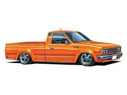 100 Datsun Truck Aoshima 53355 Custom 1982 Nissan 124 Scale Kit