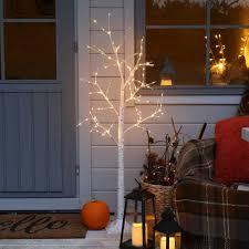 Festive Lights Winter Wishing Tree Light Plug In Mains Powered Indoor Outdoor Home Lighting Birch 4ft