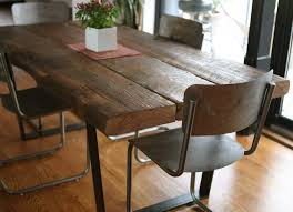 Furniture Rustic Kitchen Recycled Wood Dining Table And Bench Farmhouse