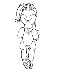 Rarity Leaping Free Coloring Page