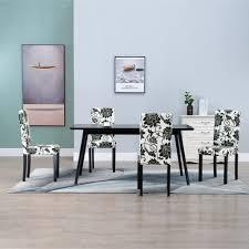 vidaxl esszimmerstühle 4 stk schwarz stoff