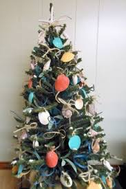 Seashell Christmas Tree Garland by Victorian Christmas Tree Decoration Tabletop By Holidaybygrace