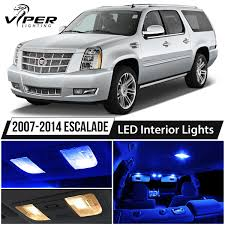 2007-2014 Cadillac Escalade Blue LED Interior Lights Package Kit | EBay